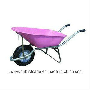 Heavy Load Building Wheel Barrow/ Pb-Free and UV Stable Powder Coating Trolley/ Hot Sell Metal Cart pictures & photos