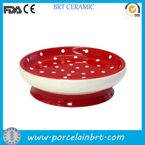 Bathroom Spotted Red Small Ceramic Soap Dish pictures & photos