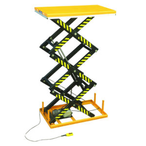Electric Hydraulic Triple Scissors Lift Platform pictures & photos
