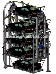 Vertical Rotary Smart Parking System with Ce
