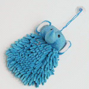 Blue Elephant Chenille Cartoon Cleaning Towel pictures & photos