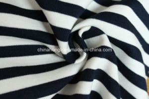 High Quality T/R/Sp 63/23/4, 300GSM, Yarn Dye Stripe Ponte-Roma for Garments pictures & photos