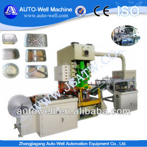 Aluminium Foil Container Production Line with Automatic Stacker pictures & photos