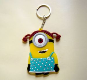 Promotional Product Customize Rubber Silicon Cartoon Plastic Keychain pictures & photos