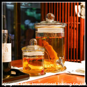 Cylinder Clear Glass Gallon Jar pictures & photos