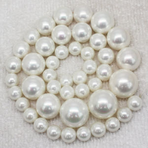 Best Quality ABS Hallf Pearls, Flat Pearl Hot Fix Beads Wholesale for Wedding Dress pictures & photos