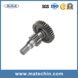 Position Hole with Teeth Gear Wheel Forging Shaft pictures & photos