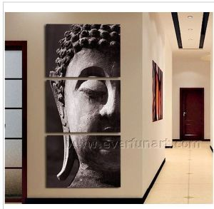 Wall Decorative Buddha Face Oil Painting on Canvas (BU-019) pictures & photos