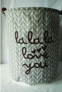 Functional Eco-Friendly Foldable Fabric Storage Basket Customized for Home Use pictures & photos