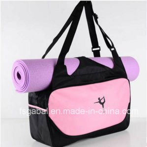 Fashion Women′s Sports Travel Tote Bag with Yoga Mat pictures & photos