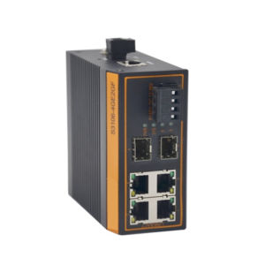 6 Port 100Mbps Industrial Switch Managed 2 Fiber Port pictures & photos