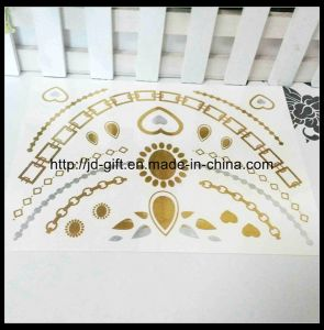 Hot Sale Flash Jewelry Temporary Tattoos Metallic Gold Silver Tattoo Sticker in High Quality pictures & photos