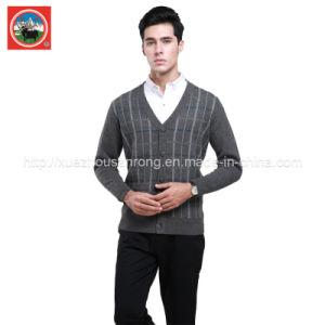 Yak Wool Cardigan V Neck Knitwear/Cashmere Clothing/Yak Wool Garment pictures & photos