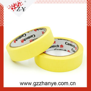 Single Sided Adhesive Yellow Automotive Masking Tape pictures & photos