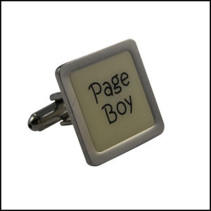 Metal Cufflink Printing Logo Square Cufflink (GZHY-XK-023) pictures & photos