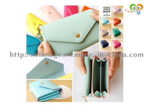 Candy Color Crown PU Leather Wallet Case