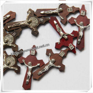 Wood Catholic Medals Cross Pendant with Rosary (IO-cw033) pictures & photos