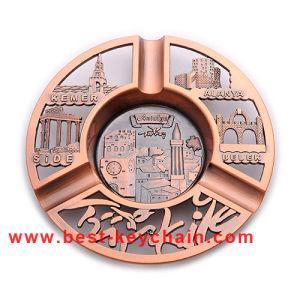 Emboss Logo Metal Souvenir Plate Custom Promotion Ashtray (BK53346) pictures & photos