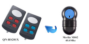 Qinuo Compatible with Merlin+ Qn-RS201X 40.6MHz 2 Button Wireless Remote Control Switch pictures & photos