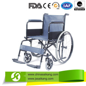 Price of Powder Coating Steel Frame Wheelchairs (CE/FDA/ISO) pictures & photos