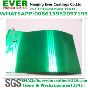 Tansparent Green Color Powder Coating Electrostatic Spray pictures & photos