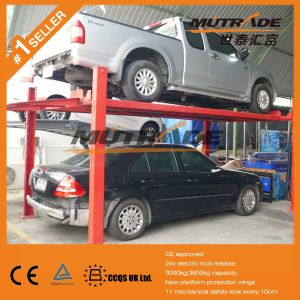 4 Cars Hydraulic Four Post Parking Lift Price pictures & photos