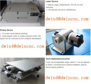 High Speed Metal Marking Machine Fiber Laser Marking Price pictures & photos