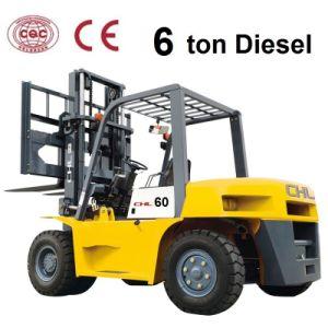 6 Ton Diesel Forklift Pneumatic with Isuzu 6bg1 Engine (CPCD60) pictures & photos