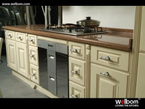 Welbom European Style PVC Kitchen Cabinet Design pictures & photos