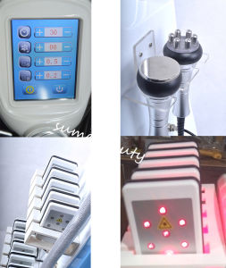 Touch Screen Cryo Cryolipolysis Handle Fat Freezing Ultrasound Cavitation RF Weight Loss Machine Lipo Laser pictures & photos