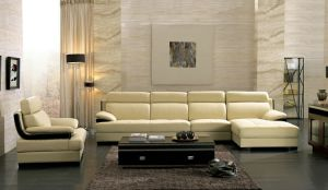 Modern Genuine Leather L Shaped Sectional Sofa pictures & photos