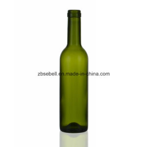 375ml Bordeaux Wine Bottle, Cork Top, Dark Green pictures & photos