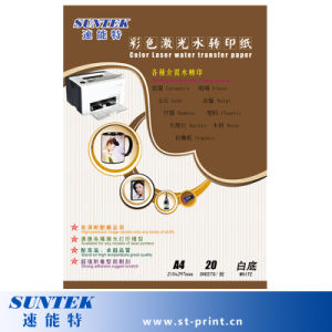 186 GSM Clear Color Laser Water Transfer Paper pictures & photos
