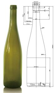 750ml AG Hock Bottle for Wine with Cork 18.5mm pictures & photos
