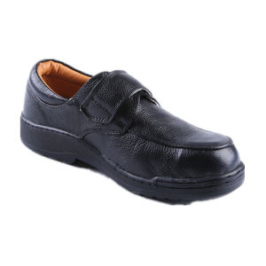 Men Embossed Leather Casual Style Safety Shoes