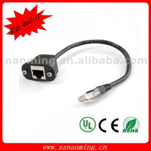 Male to Female RJ45 Panel Mount Cable pictures & photos