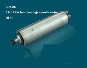 24000rpm 62-1.2kw Four Bearings Inside Water Cooling Spindle Motor Er11 Gdz-26 pictures & photos