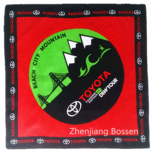 "Custom Made Logo Printed Promotional Cotton 22""*22"" Square Bandana Headband pictures & photos"