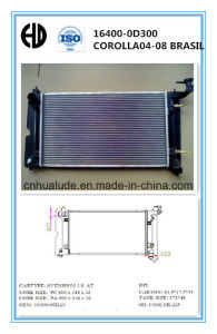 High Quality Aluminum Braze Welding Auto Radiator for Corolla Brasil pictures & photos