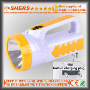 Rechargeable 1W LED Torch with 18 LED Reading Light (SH-1952) pictures & photos