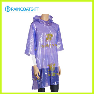 Promotional Full Printing Festival PE Rain Poncho pictures & photos