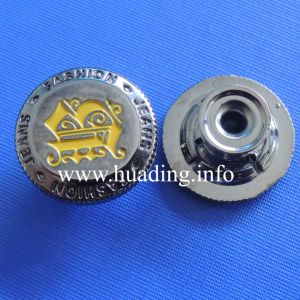 Fabric Metal Shank Button of Garment pictures & photos
