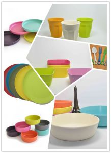 Eco-Friendly Hot-Sell Bamboo Fiber Tableware pictures & photos