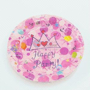 300g Ivory Board Pink Paper Plate for Party pictures & photos
