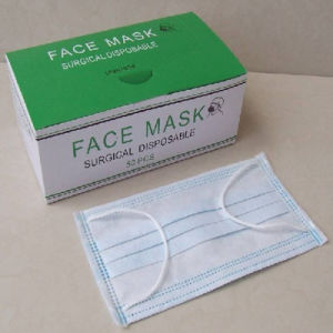 Disposable Surgical Tie-on Face Mask pictures & photos