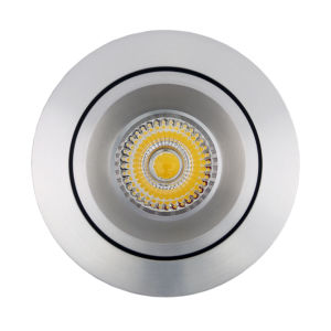 Lathe Aluminum GU10 MR16 Round Tilt Recessed LED Spotlight (LT2204B) pictures & photos