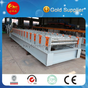 Arc Cut Double Glazing Tile Sheet Metal Roofing Plate Rolling Machine pictures & photos