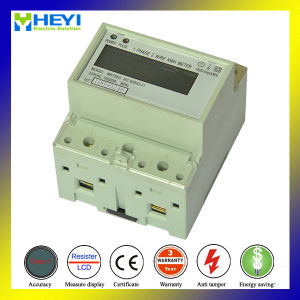 Single Phase DIN Rail Digital Electronic Kwh Meter pictures & photos