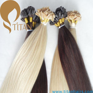 Remy Indian Hair Pre Bonded U Tip Hair Extension pictures & photos