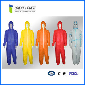 Disposable Protective Safety Non Woven Coverall with Hood